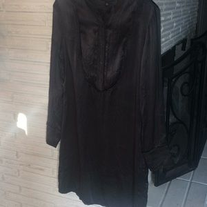 Grey Banana Republic silk dress